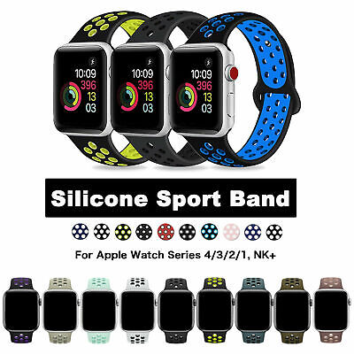 $ CDN5.64 • Buy 38/42/40/44mm Silicone Sport IWatch Band Strap For Apple Watch Series 5/4/3/2/1