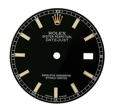 $ CDN461.36 • Buy Rolex Black Index Dial For 36mm Datejust 116231 116201