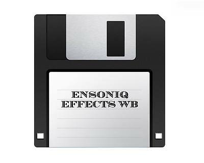 $120 • Buy Ensoniq WB FX And Transwave Library Sound Disks Collection ASR-10 EPS-16 TS