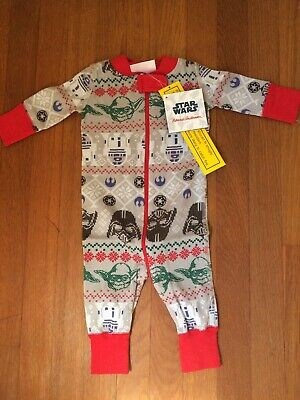 $17.99 • Buy Hanna Andersson Baby Zipper Pajamas PJs Star Wars Christmas 0-6 Months One Piece
