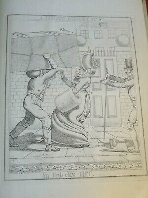George CRUIKSHANK (1792-1878) RARE PRINT CARICATURE SATIRE LONDON NUISANCE 1835f • 30£