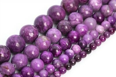 $6.55 • Buy Natural Jasper Sugilite Purple Beads Grade AAA Round Loose Beads 4/6/8/10/12MM