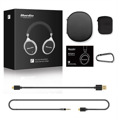 AU28.43 • Buy Bluedio F 2nd Wireless Bluetooth 4.2 Headphones Stereo Noise Cancelling Headsets