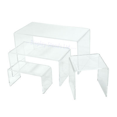 £15.46 • Buy Acrylic Display Risers Plinths Stands In 4 Sizes 2 Colours Perspex 3mm (G131-4)