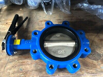 $82 • Buy 6  Lug Butterfly Valve, Ductile Iron Disc, Buna Seat (Brand New) 150 PSI