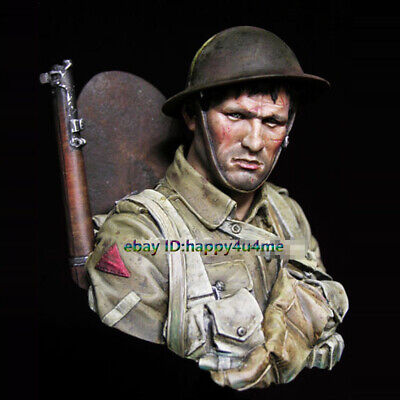 Unpainted 1/10 Scale Soldier Buts Model Figure Garage Kits Unassembled Statue • 25.28£