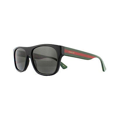 AU276 • Buy Gucci Sunglasses GG0341S 002 Black With Green And Red Stripe Grey Polarized