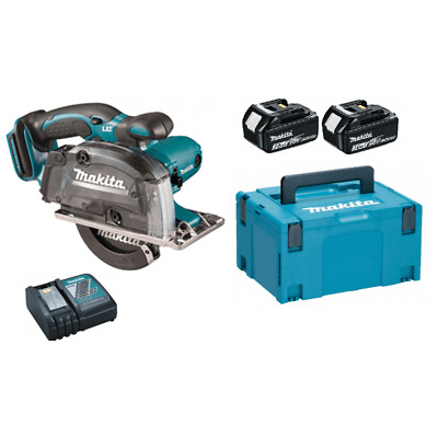 Makita DCS553RFE 18v Metal Cutting Saw With 2 X 3.0ah Batteries Charger, Case • 349£