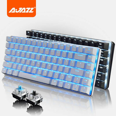 AU65.99 • Buy AU Ajazz AK33 Wired Gaming Keyboard Ergonomic Usb Blue Black Switches Mechanical