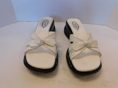 $19.99 • Buy Callisto Ladies White Leather  Strappy Wedge Sandal Size10 M /eur 40