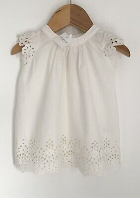 $53.65 • Buy Bonpoint Designer Baby Dress BNWT Size 3-6 Months Broderie Anglaise Milky White