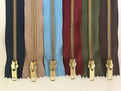 YKK Brass Jean Zips Semi- Auto Lock Slider For Jeans, Trousers And Cords • 1.90£
