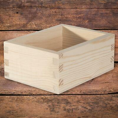 £7.95 • Buy Small Wooden Open Container Display Box /14.5 X 11 X 6 Cm /Plain Decorative Pine