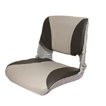 Folding Boat Helm Seat - Speed Boat Fishing - New (Moulded Base) Charcoal/Grey • 44.95£