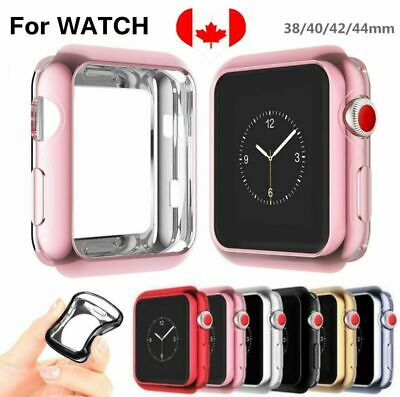 $ CDN5.29 • Buy For Apple Watch Series 3 4 2 1 I Watch 38/42/40/44 Plating Bumper Soft TPU Case