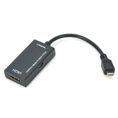 AU12.99 • Buy Micro MHL Black USB Male To HDMI Female Adapter Cable For Mobile Phone