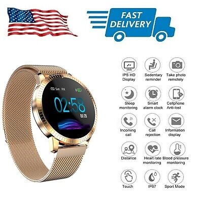 AU45.12 • Buy New Rose Gold Smart Watch W Stainless Steel Magnet Strap Tempered Glass Screen