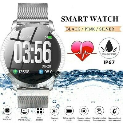 AU45.12 • Buy Waterproof Smart Watch W Pedometer Call Text Email Social FB Insta Notifications