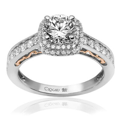 Clogau Compose 18ct White Rose Gold Cecilia Engagement Ring £1410 Off! 0.3ct. • 1,410£