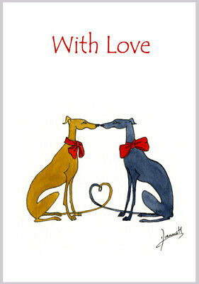 £3.40 • Buy Dogs 6232 Dianne Heap With Love Card Art Birthday Greyhound Lurcher Whippet