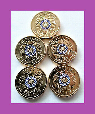 AU20 • Buy 2019 $2, 2 Dollar Police Remembrance Coin - 5 Coins