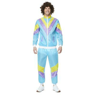 Mens Shell Suit Costume 80s 90s Scouser Tracksuit Stag Do Fancy Dress Outfit • 13.99£