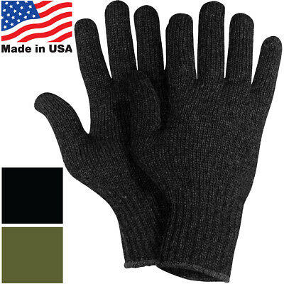 $9.99 • Buy US Made Wool Glove Liners Cold Weather GI Blank Tactical Army Military Gloves