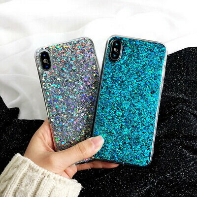 $ CDN5.83 • Buy Glitter Case For Samsung S20 S10 S9 Plus A8 A9 A7 2018 A70 A50 Rubber Soft Cover