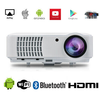 AU619.95 • Buy 4K Max 1080P Native Bluetooth Android WiFI Projector Smart Home LED Projector 3D