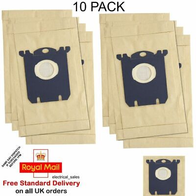 FITS PHILIPS ZANUSSI ELECTROLUX VACUUM CLEANER S CLASS HOOVER DUST BAGS X 10 • 8.99£