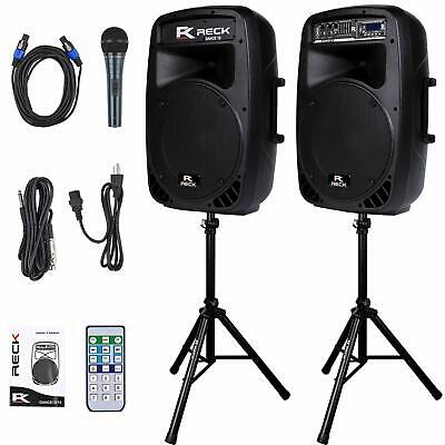 $249.95 • Buy DJ Mobile PA Speaker System With Bluetooth 1000 Watts Peak