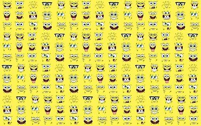 Spongebob Squarepants Happy Face Canvas Wall Art Wood Framed Ready To Hang XXL  • 15£