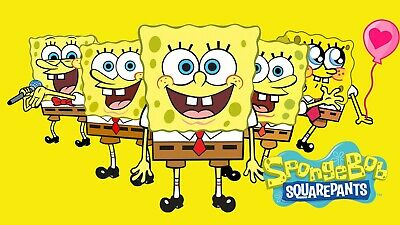 Spongebob Squarepants Logo Canvas Wall Art Wood Framed Ready To Hang XXL  • 10£