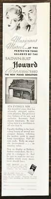 $9.69 • Buy 1936 Baldwin Built Howard Acrosonic Piano Print Ad Musicians Marvel