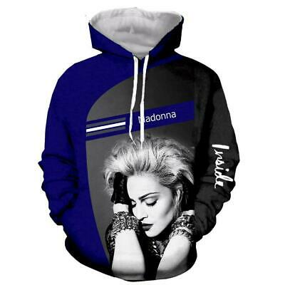 $ CDN26.82 • Buy Popular Star Madonna 3D Print Hoodies MensWomen Casual Pullover Sweatshirts Tops