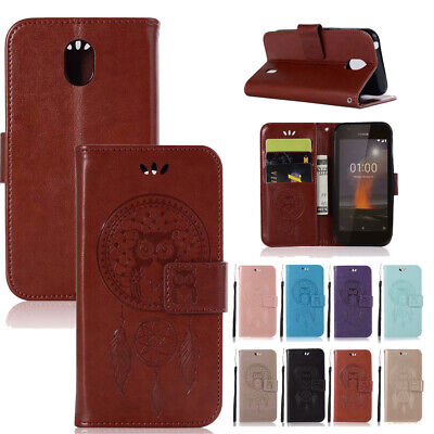AU17.99 • Buy For Nokia 1 2 3 6 5 8 2017 7Plus 8 Sirocco Owl Pattern Leather Wallet Case Cover