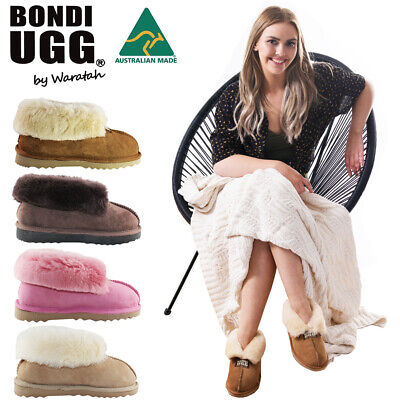 AU49 • Buy BONDI UGG Wool Collar Slipper