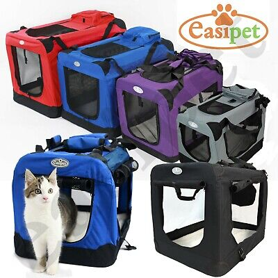 Dog Cat Puppy Rabbit Fabric Pet Crate Carrier Travel Portable Kennel Cage House • 21.99£