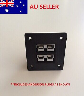 AU24.95 • Buy 50 Amp Anderson Plug Flush Mount Double Plug Cover SB50 Black