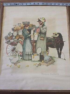 $ CDN1000.04 • Buy A/P Norman Rockwell Lithograph  A Country Peddler  Traveling Salesman Series