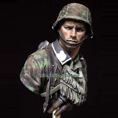 NEW 1/10 Unpainted Soldier Bust Model Resin Unassembled Garage Kit Figure Statue • 17.99£