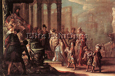 $ CDN528.47 • Buy Vignon Claude Esther Before Ahasuerus Artist Painting Reproduction Handmade Oil