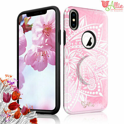 AU10.68 • Buy For Apple IPhone Xs Max XR 7 Plus 6 [Pink Flower] Kick Stand Slim Case For Girls