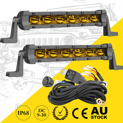 AU45.55 • Buy 8  Side Shooter Cree LED Work Light Bar Tri Row Spot Flood Driving OffRoad 4WD