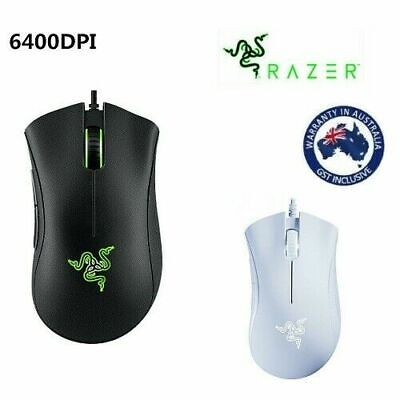AU48.95 • Buy Razer DeathAdder Essential Gaming Mouse 6400DPI Wired Optical Mice For PC Laptop