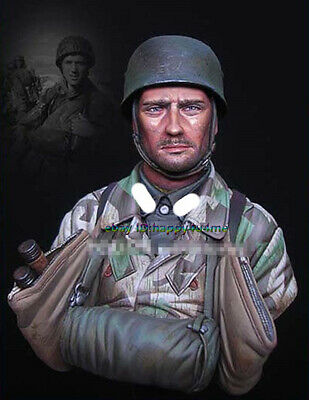 1/10 Scale Paratrooper Soldier Bust Model Unpainted Figure Garage Kits Statue • 17.66£