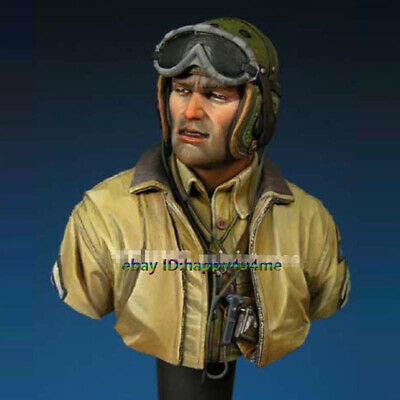 Unpainted WWII Resin Tank Crew Bust Model Soldier Figure Garage Kits Statue NEW • 16.66£