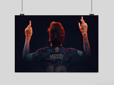 £10.95 • Buy Lionel Messi Poster Football Fc Barcelona  Wall Art Image Print A3 A4 Size