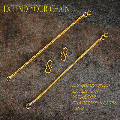 £2 • Buy 18ct Gold Extension Safety Necklace/Bracelet/ Chain Extender GOLD PLATED