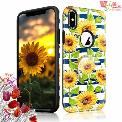 AU10.68 • Buy For Apple IPhone 6 Xs Max 8 Plus 7 Case [SUN FLOWER] Stick Stand Cover For Girls